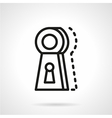 Keyhole line icon vector image