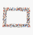 large group people background people frame vector image vector image