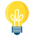 light bulb icon vector image