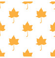 maple leaves seamless white orange art vector image