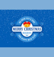 merry christmas greeting design vector image vector image