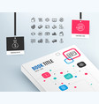 money line icons banking wallet and coins vector image