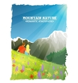 Mountain Landscape Nature Romantic Background vector image vector image