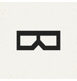 Movie Glasses Icon vector image