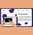 online training web design template webinar banner vector image