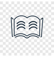 open book concept linear icon isolated on vector image