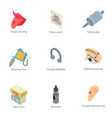 outward appearance icons set isometric style vector image vector image