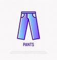 pants thin line icon modern vector image