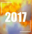 Polygonal background with 2017 numbers vector image
