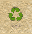 recycle poster design with cardboard background vector image vector image