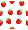 Red strawberry seamless background vector image vector image