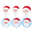 santa faces vector image vector image