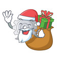 santa with gift gear icon cartoon the design best vector image vector image