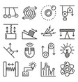 science physics icons set on white background vector image vector image