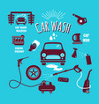 set car wash icon hand drawn vintage design vector image
