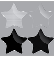 Set of realistic glass stars vector image vector image
