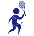 Sport icon with man playing tennis vector image