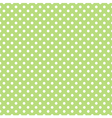 Spring pattern white polka dots green background vector image vector image