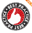 Stamp sticker best practice collection - - vector image
