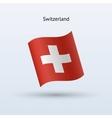 Switzerland flag waving form vector image