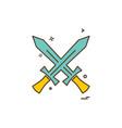 swords icon design vector image vector image