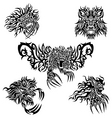 tattoo lions vector image vector image