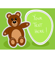 Teddy bear with blank sign vector image vector image
