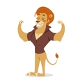 Teen lion power strong man on white vector image