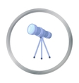 Telescope icon in cartoon style isolated on white vector image vector image
