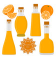 the theme bottles oil vector image