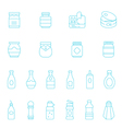 Thin lines icon set - ketchup vector image vector image