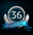 thirty six years anniversary celebration design vector image vector image