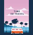 travel trip sunset ocean vector image vector image