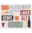 Typographic retro grunge beer poster vector image