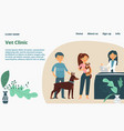 veterinary clinic landing web page concept banner vector image vector image
