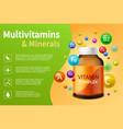 vitamin complex realistic plastic bottle vector image