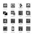 we are portraying e learning line icons set having vector image vector image