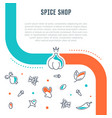 website banner and landing page spice shop vector image vector image
