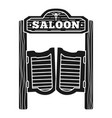 welcome to saloon icon simple style vector image