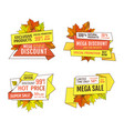 wholesale adverts set products at super hot price vector image vector image