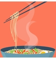 Chinese noodles poster vector image