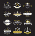 hotel stores and cafe vintage logos vector image
