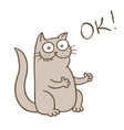funny cat puts on the likes vector image