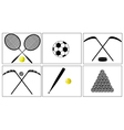 Sport with a ball and puck vector image