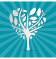 Abstract Heart Shaped Tree on Blue Retro vector image