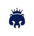 abstract king bear concept logo icon vector image