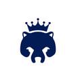abstract king bear concept logo icon vector image vector image