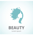 Abstract logo woman face in profile vector image vector image