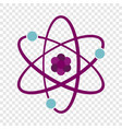 atom icon flat style vector image vector image