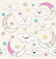 baby cloud pattern seamless baby shower vector image vector image